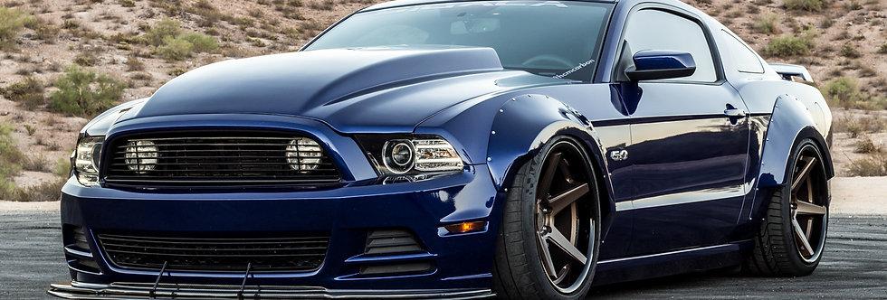 2010 - 2014 Mustang Widebody Fiberglass Fender Flares