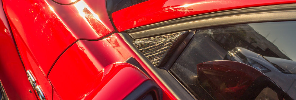 2015 - 2019 Mustang Carbon Fiber Mirror Triangle Covers