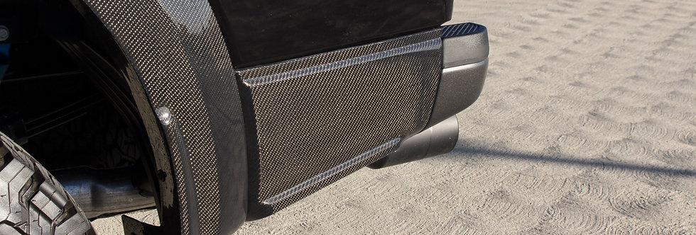 2017+ Raptor Carbon Fiber Rear Quarter Panel Moldings