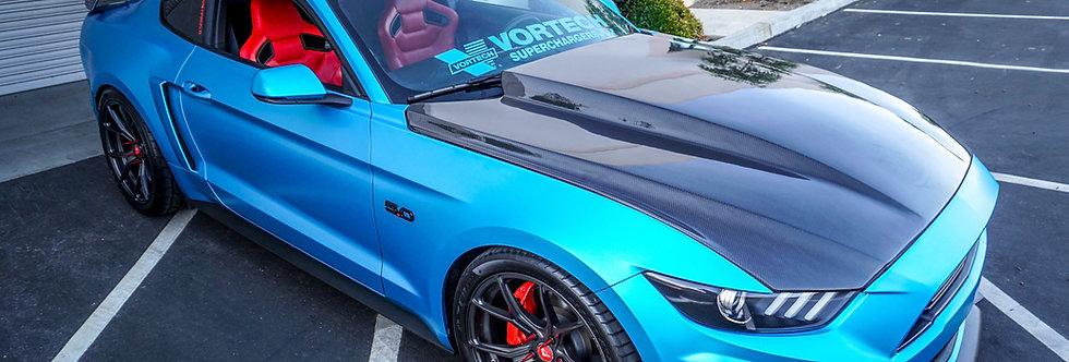 2015 - 2017 Mustang Carbon Fiber 3″ Cowl Hood