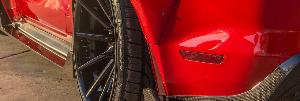 2015 - 2017 Mustang Carbon Fiber Sigala Rear Bumper Extensions