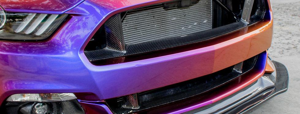 2015 - 2017 Mustang Carbon Fiber Upper Grille Delete