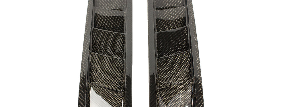 2013 - 2014 Mustang Carbon Fiber Hood Vents