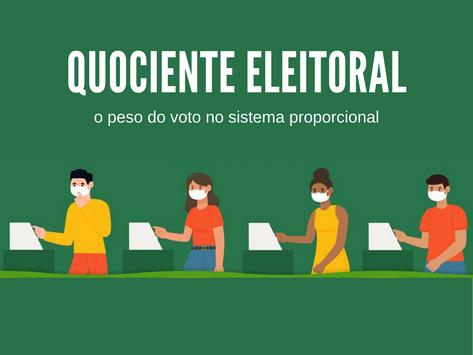 Quociente eleitoral: o peso do voto no sistema proporcional