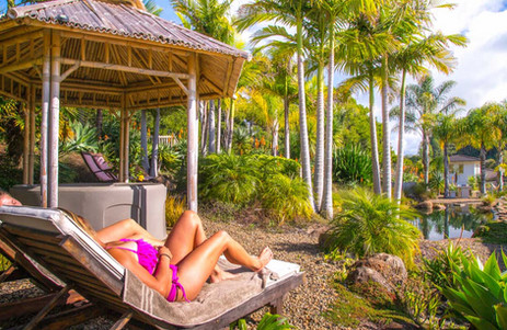 Sun Loungers in the Natural Oasis