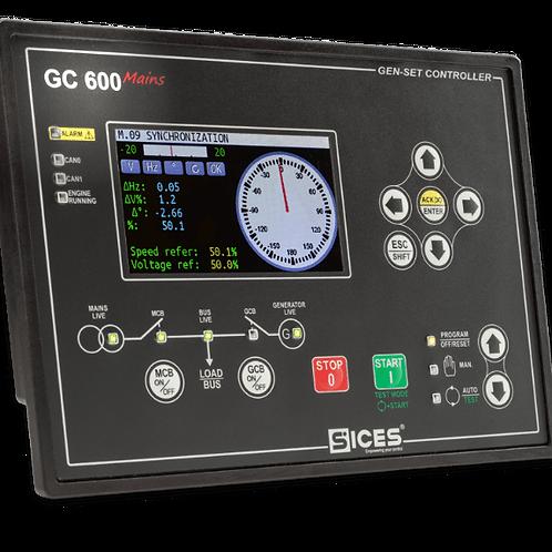 Módulo controle paralelismo de geradores GC600