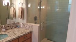 Porcelain Shower w/ Glass tile