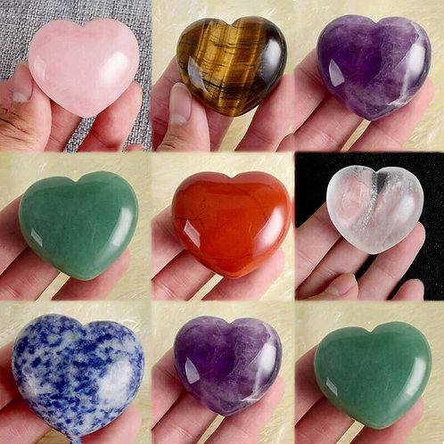 Heart Shaped Chakra Crystals