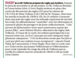a venir rugby velleron