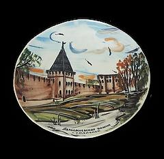 Тарелка рисованная