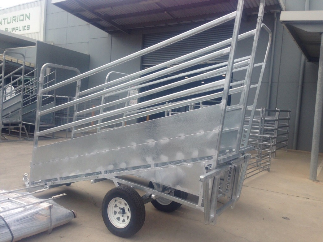 Senturion Steel Supplies Cattle Ramp Tra
