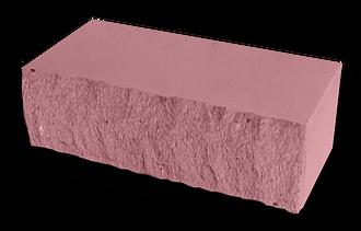 Кирпич декоративный колотый розовый