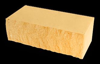 Кирпич декоративный колотый желтый