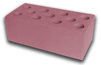 Кирпич полуторный пустотелый розовый