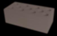 Кирпич полуторный пустотелый коричневый
