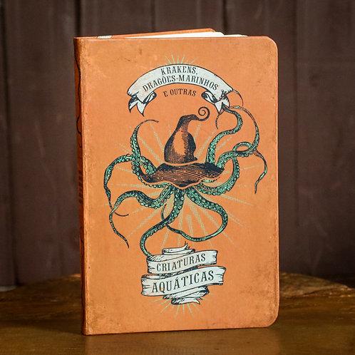 Caderno criaturas aquáticas