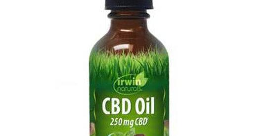 Irwin Naturals - CBD Tincture - Full Spectrum Mint Chocolate Oil - 250mg