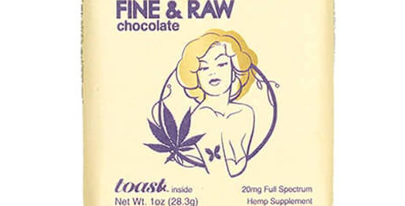 Toast - CBD Edible - Fine and Raw Chocolate - 20mg-100mg