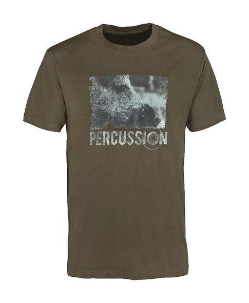 Detské poľovnícke tričko s potlačou PERCUSSION SILKSCREEN