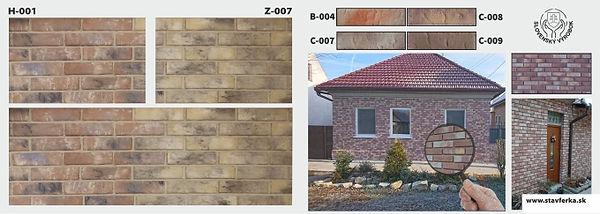 betónový tehlový obklad na rodinné domy