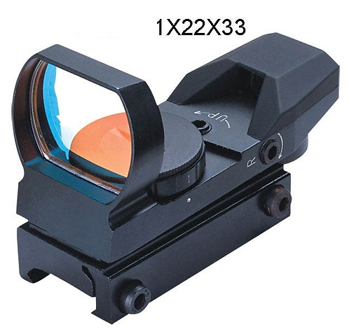 1x22x33 mm kolimator RED (13-14mm) - Stopy po používání, FOMEI
