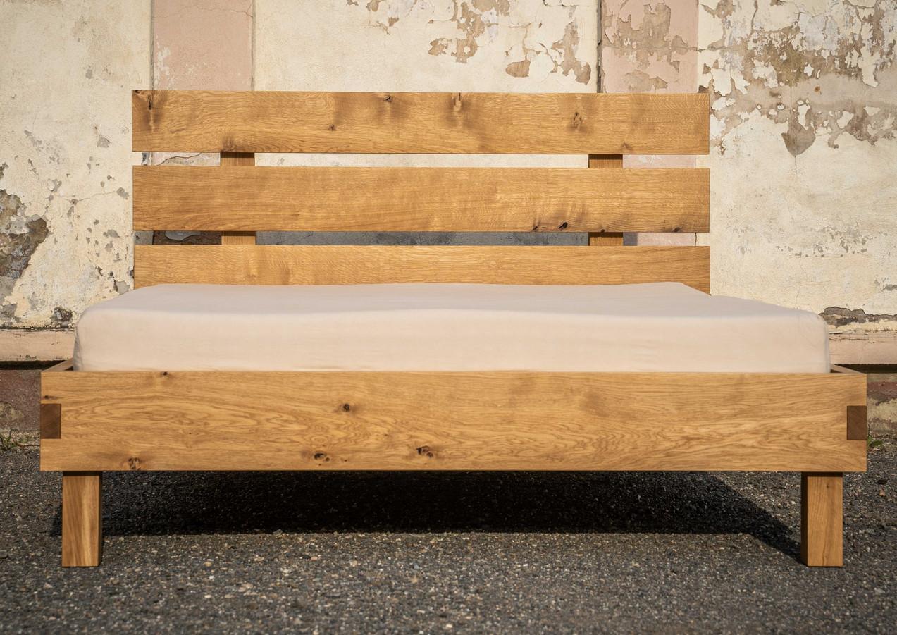 Masivní dubová postel Zakázková výroba 200/160, olejováno