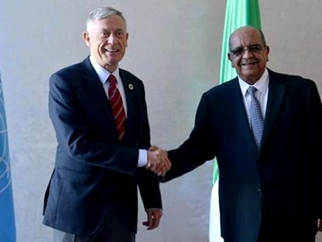 UN Envoy for Western Sahara Horst Kohler received by Algerian Minister of Foreign Affairs Abdelkader
