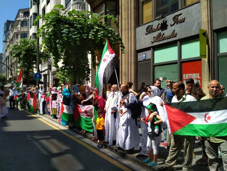 Saharawi Community Basque organizes a protest against brutal repression in occupied Western Sahara