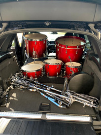 Drum set donation from Dr. Victoria Amesbury