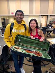 Violin donation from Hannah Davis