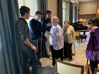 Interacting with Sedgebrook residents following October 2019 performance