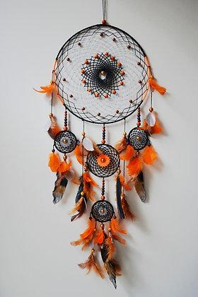 Black & Orange Dream Catcher - Large