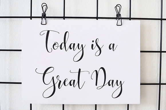 Today is a Great Day - Postcard