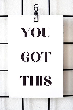 You Got This - Postcard