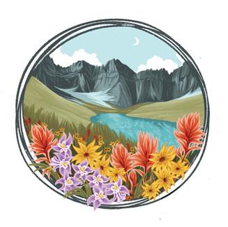 Crack Lake Illustration