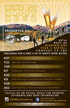 Hike to Happy Hour Flyer