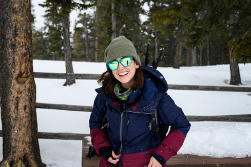 Cleo Snowshoeing