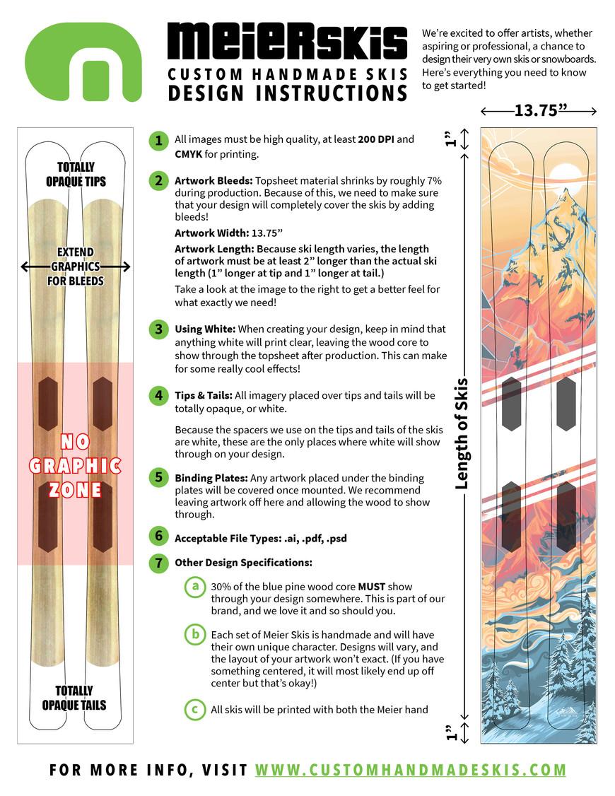 Custom Ski Design Template
