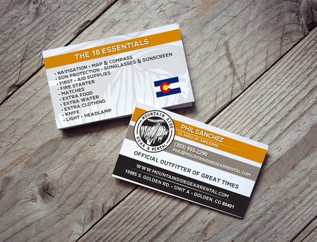 Mountain Side Business Cards