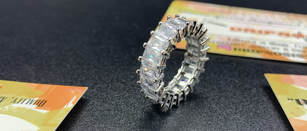 Classic Silver Baguette Ring