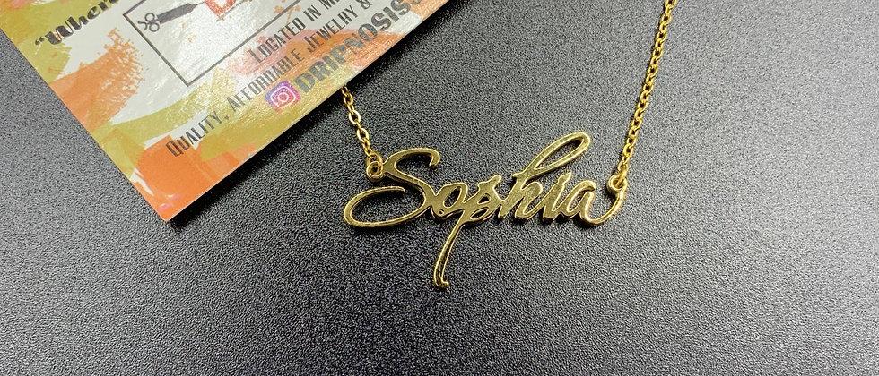 Tinkerbell Custom Nameplate Necklace