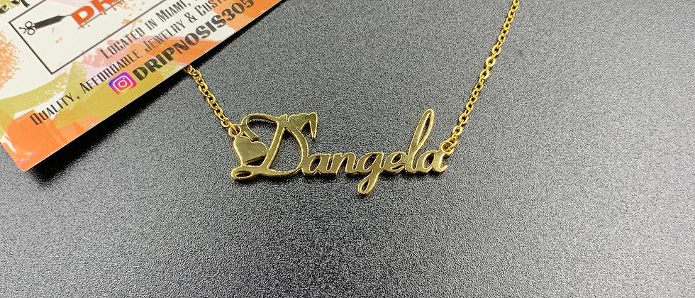 Violet Custom Nameplate Necklace