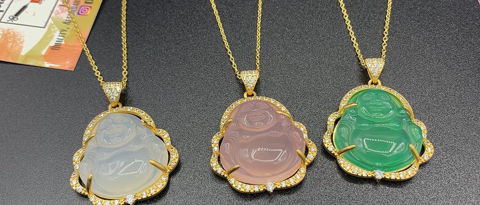 Crystal Buddha Necklace