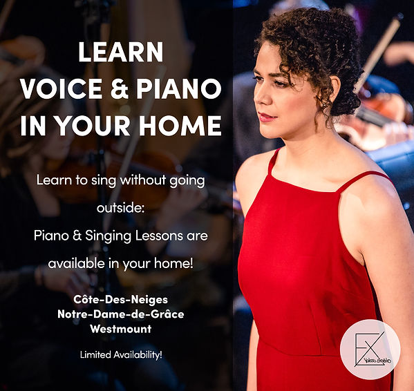 In home vocal coach Montreal in NDG and Cotes des neiges