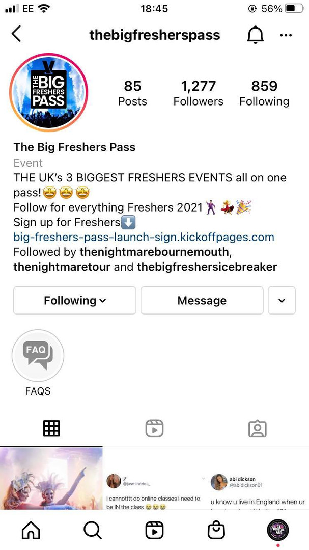 The Big Freshers Pass