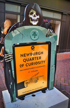 Newburgh Quarter Halloween A-Board Tombstone