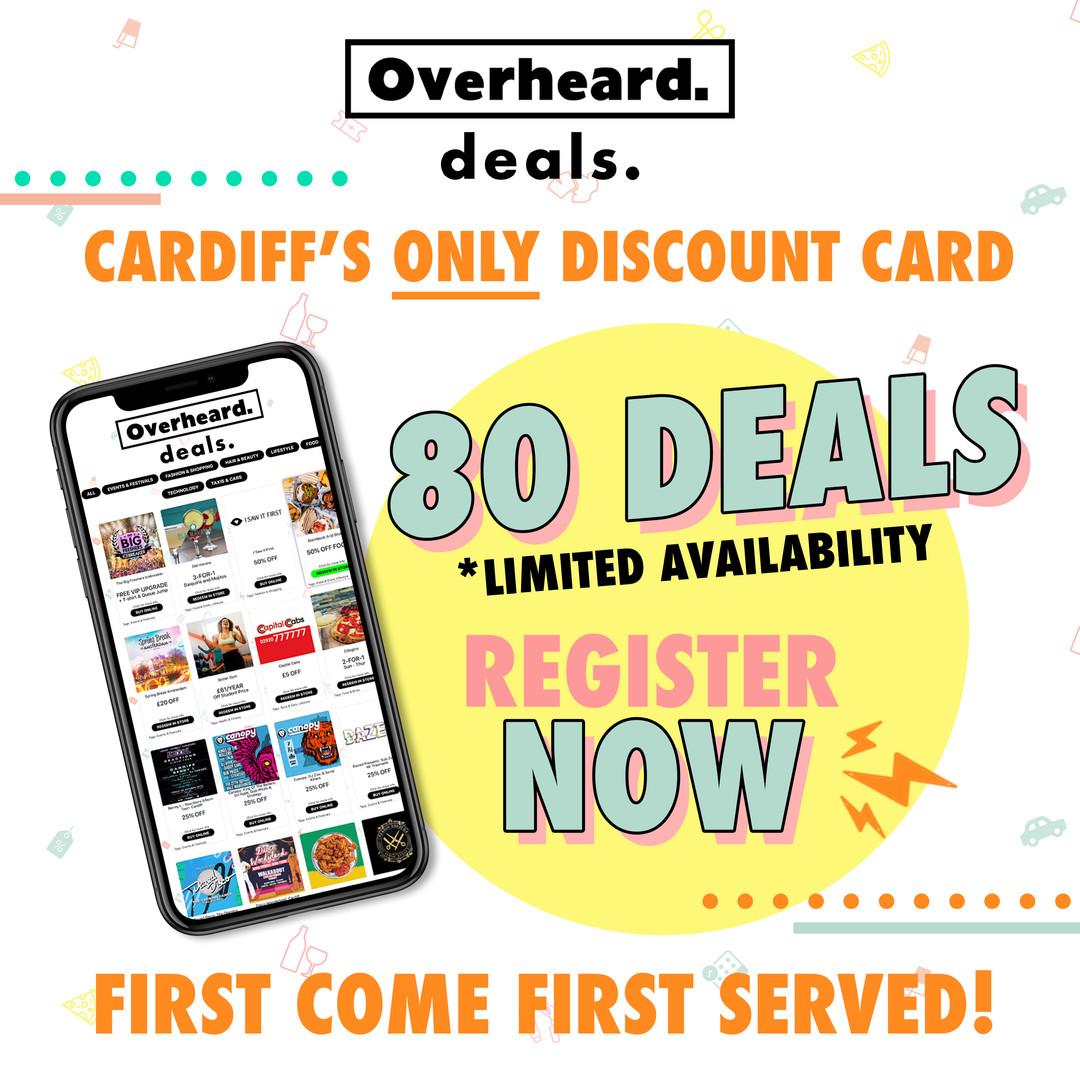 Overheard Deals Poster Design