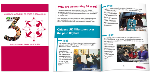 Citizens UK - Brochure Design