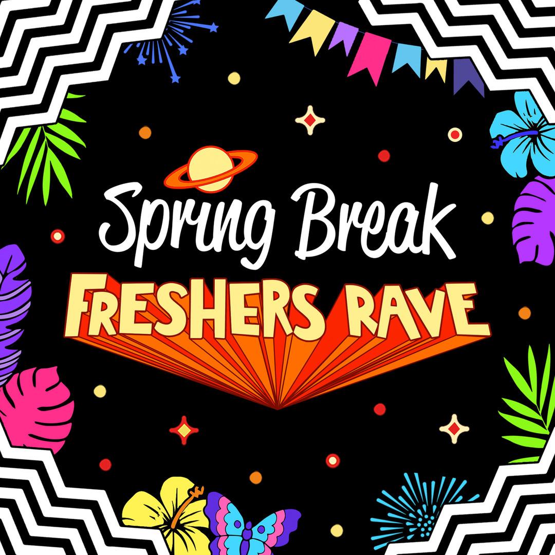 Spring Break Freshers Rave Logo Design