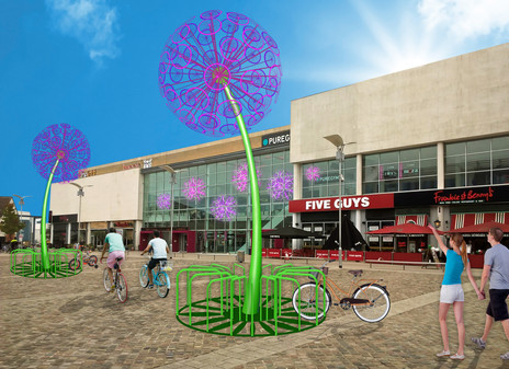 SUMMER BICYCLE SCULPTURE